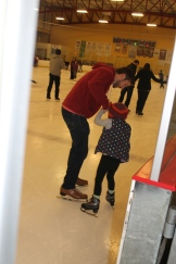 Ben and Shiloh on the ice.